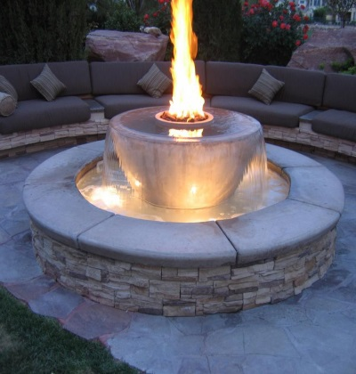 Fire Bowl with Water